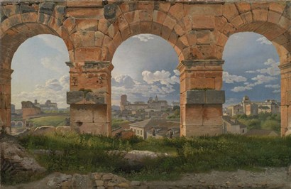 View through Three Arches of the Third Storey of the Colosseum, 1815 by Christopher Eckersberg art print