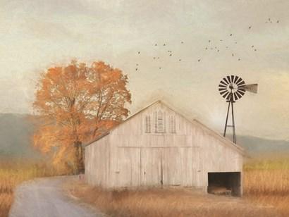 Fall Barn in Muir by Lori Deiter art print