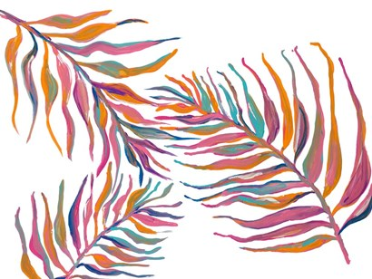 Colorful Palm Leaves II by Gina Ritter art print