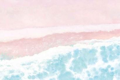 Sky Seaview I No Umbrellas Pink by James Wiens art print