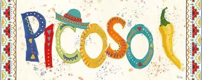 Tex Mex Fiesta IX by Veronique Charron art print