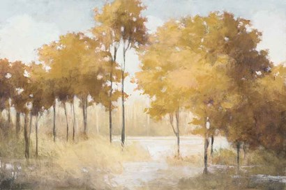 Autumn Lake Gold by Julia Purinton art print