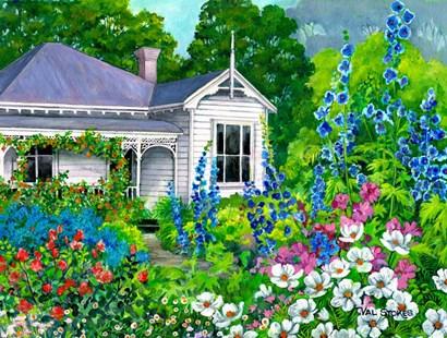 Grandma's Garden by Val Stokes art print