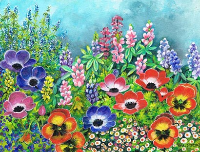 Spring has Sprung II by Val Stokes art print