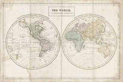 Old World Eastern Western Linen v2 by Wild Apple Portfolio art print
