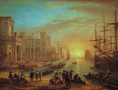 Seaport at Sunset, 1639 by Claude Lorrain art print
