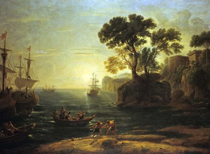 Arrival of Aeneas in Italy (c1620-1680) by Claude Lorrain art print