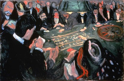 The Roulette Table at Monte Carlo, 1903 by Edvard Munch art print
