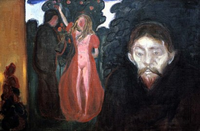 Jealousy, 1895 by Edvard Munch art print