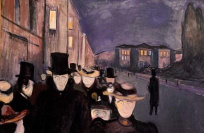 Evening on Karl Johan, 1892 by Edvard Munch art print