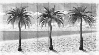3 Island Palms by Art Licensing Studio art print