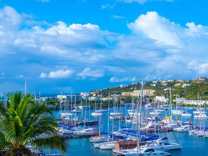 Oyster Pond Bay, St. Maarten by Jack Reed art print