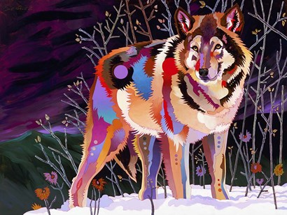 Night Wolf by Bob Coonts art print