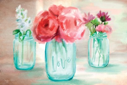 Floral Trio by Mollie B. art print