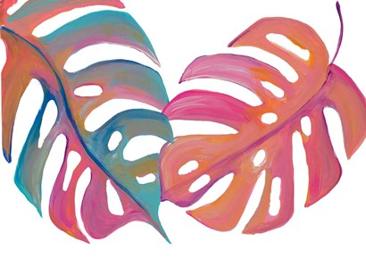 Colorful Palm Leaves III by Gina Ritter art print