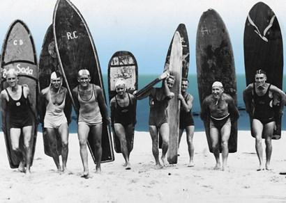 Surf's Up, Boys 1922 by Tina Lavoie art print