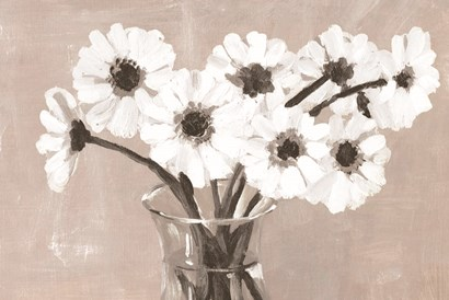 Greige Floral by Dogwood Portfolio art print