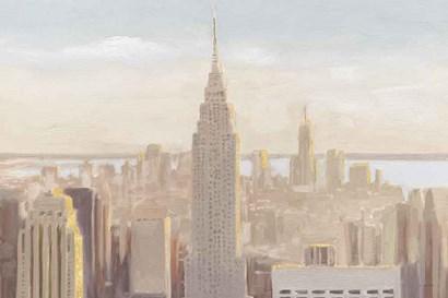 Manhattan Dawn Gold and Neutral by James Wiens art print