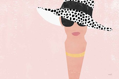 Fashion Forward Blush by Moira Hershey art print
