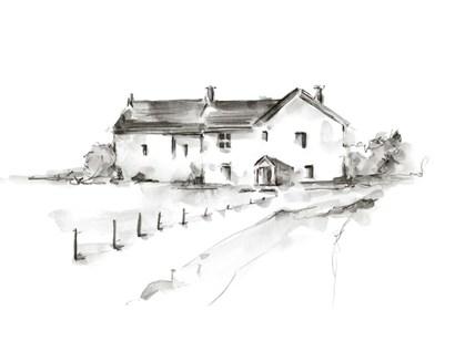 Rural Farmhouse Study I by Ethan Harper art print