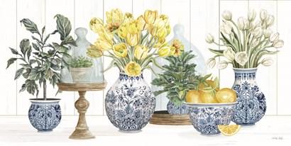 Chinoiserie Lemon Set by Cindy Jacobs art print