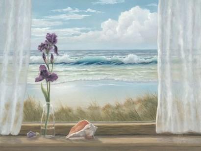 Irises on Windowsill by Georgia Janisse art print