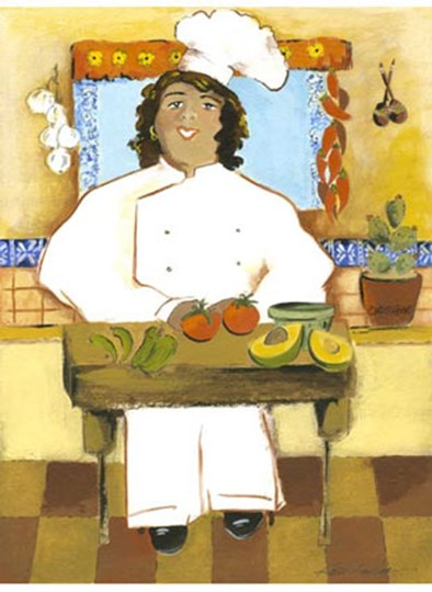Jolly Mexican Chef by Kris Taylor art print