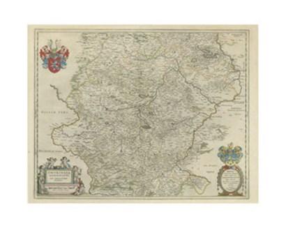 Thvringia Map art print