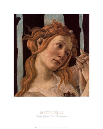 Detail: La Primavera by Sandro Botticelli art print