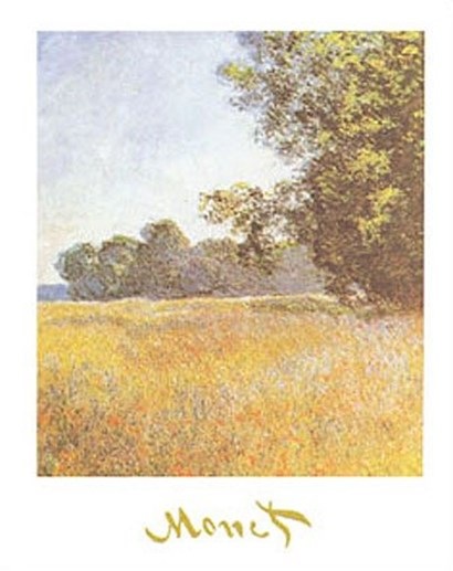 Oat Fields by Claude Monet art print