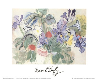 Coquelicotis et Iris by Raoul Dufy art print