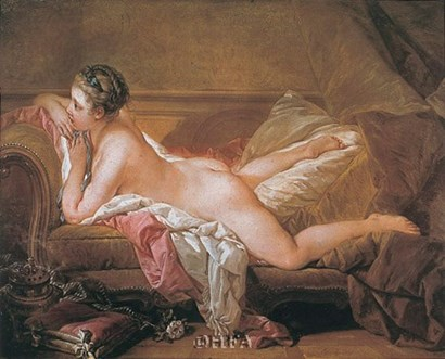 Girl Resting by Francois Boucher art print