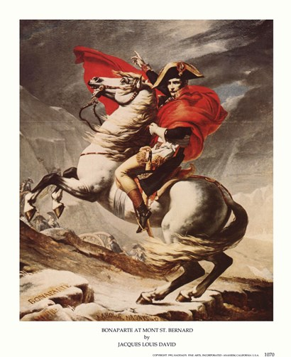 Bonaparte at Mont St. Bernard by Jacques-Louis David art print