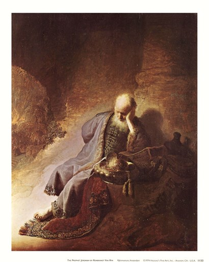 The Prophet Jeremiah by Rembrandt van Rijn art print