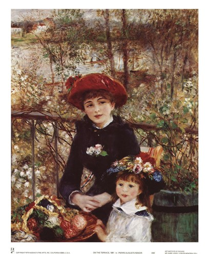 On the Terrace by Pierre-Auguste Renoir art print