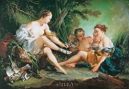 Diana Resting after the Hunt by Francois Boucher art print