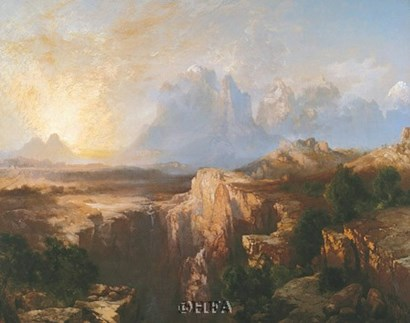 Rock Towers of the Rio Virgin by Thomas Moran art print