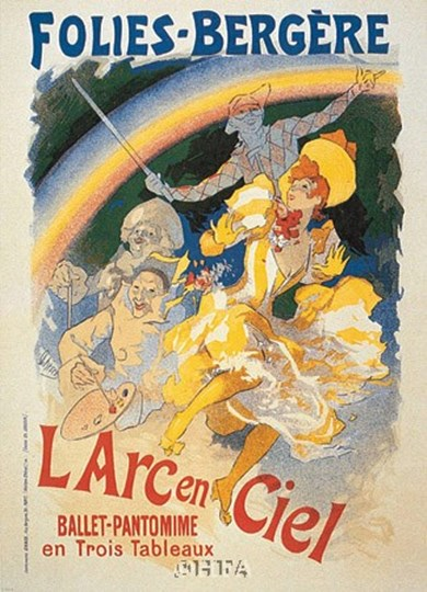 L&amp;#39;Arc en Ciel by Jules Cheret art print