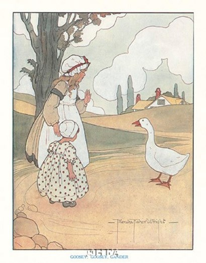 Goosey, Goosey, Gander by Blanche fisher Wright art print