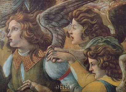 Angels (Detail from The Coronation) by Sandro Botticelli art print