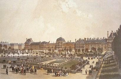 Palais des Tuileries by P.h. Benoist art print