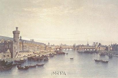 Paris, 1650 by P.h. Benoist art print