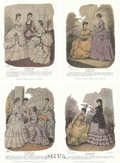 French Fashion Set (Set of Four) by Heloise Leloir art print