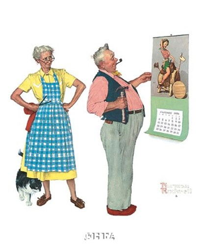 New Year Look by Norman Rockwell art print
