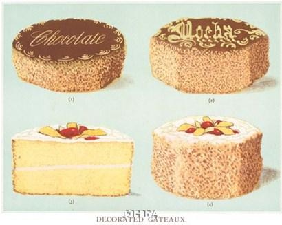 Decorated Gateaux-Chocolate art print