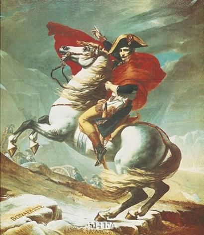 Bonaparte at Mont St. Bernard by Jacques-Louis David art print