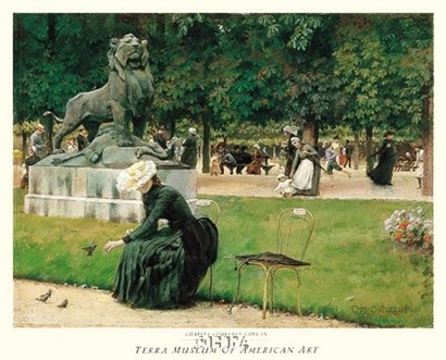 In the Luxembourg (Garden), 1889 by Charles Courtney Curran art print