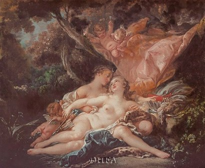 Jupiter in the Guise of Diana by Francois Boucher art print