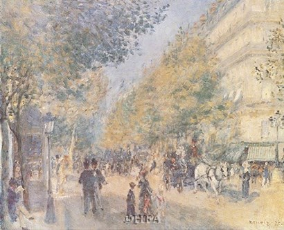 Les Grands Boulevards by Pierre-Auguste Renoir art print