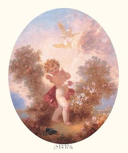 Cupid Between Roses by Jean-Honore Fragonard art print